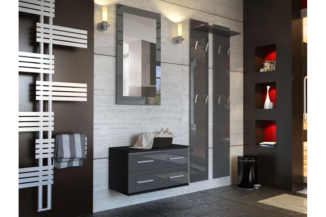 Composition de meuble d 39 entr e mural novomeuble for Meuble d ordinateur mural