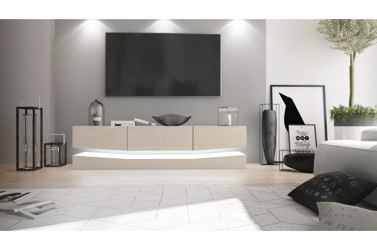 meuble tv suspendu lumineux pour salon. Black Bedroom Furniture Sets. Home Design Ideas