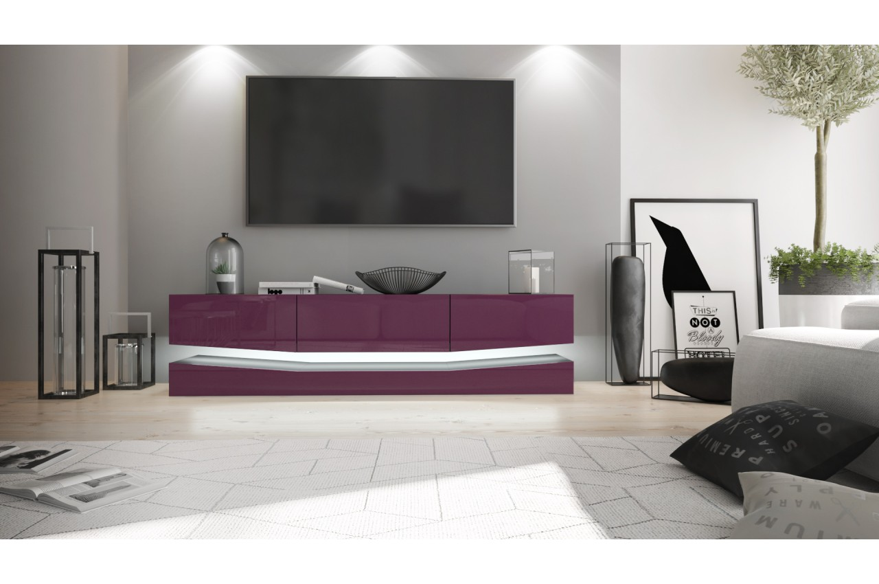 meuble t l suspendu novomeuble. Black Bedroom Furniture Sets. Home Design Ideas