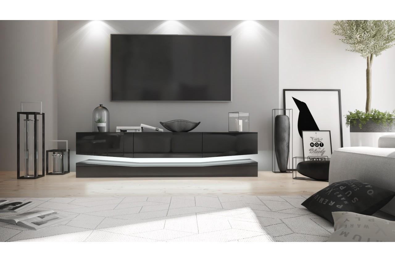 meuble t l suspendu led novomeuble. Black Bedroom Furniture Sets. Home Design Ideas