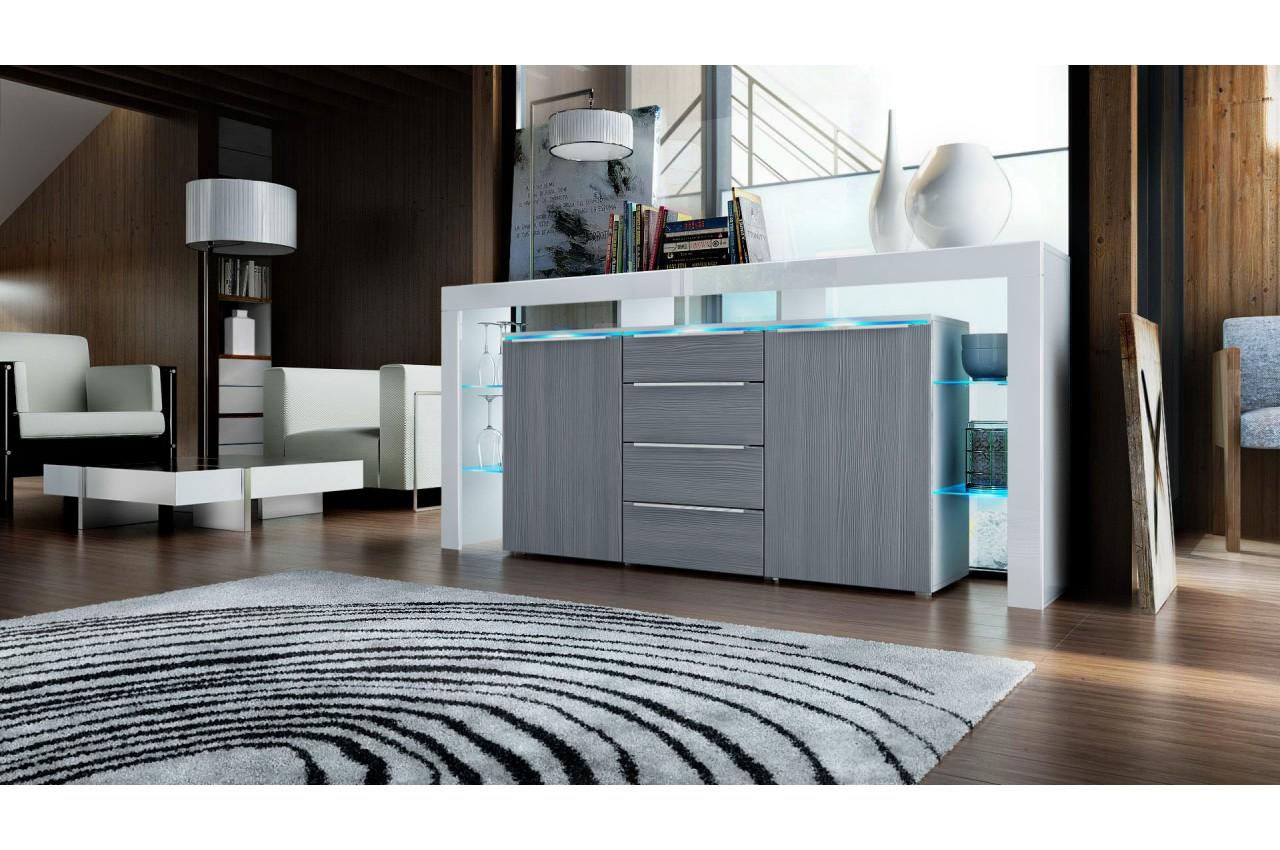 buffet moderne avec clairage pour salle manger. Black Bedroom Furniture Sets. Home Design Ideas