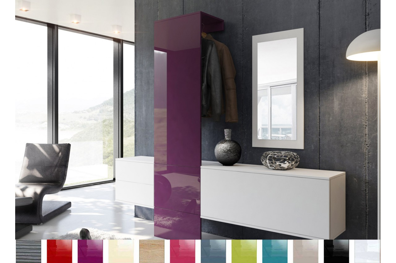 Vestiaire & Rangement Suspendu Design - Novomeuble
