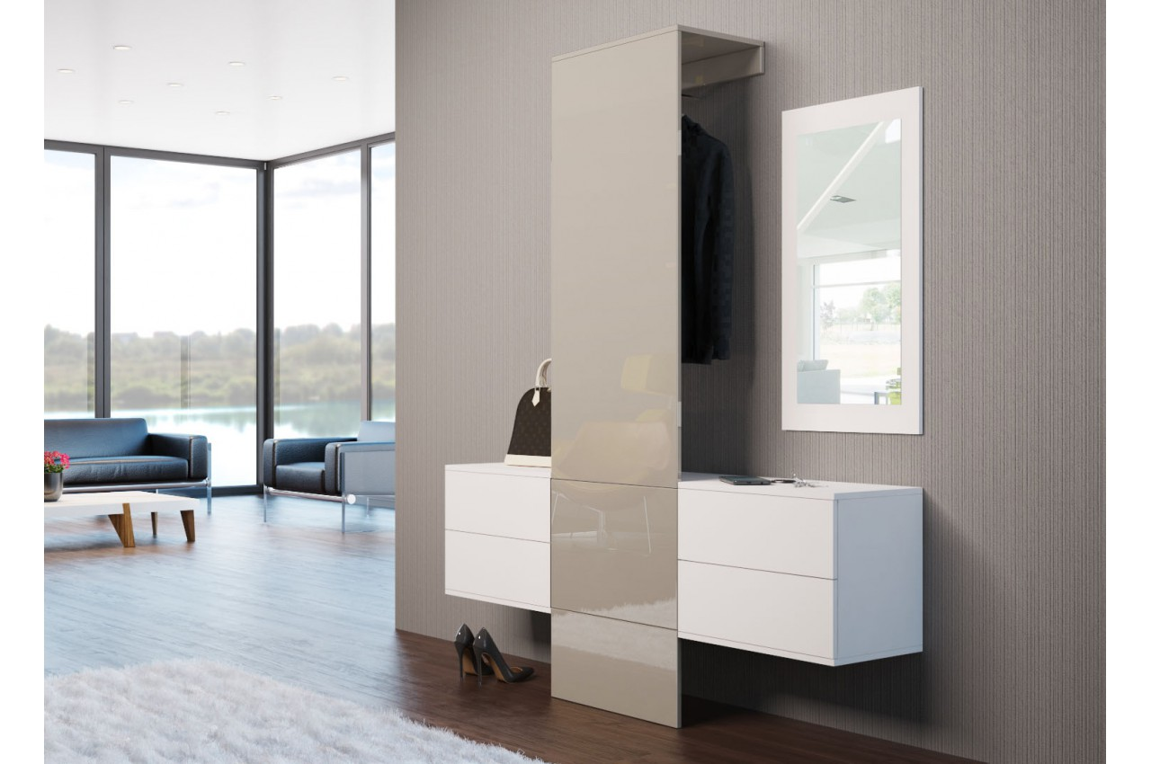 vestiaire rangement mural design pour meuble entr e. Black Bedroom Furniture Sets. Home Design Ideas