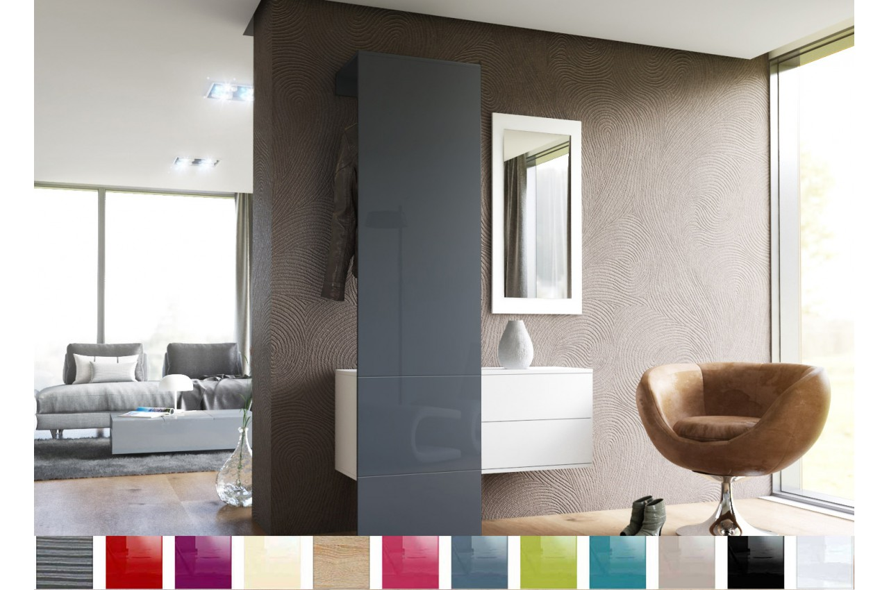 rangement vestiaire mural design novomeuble. Black Bedroom Furniture Sets. Home Design Ideas