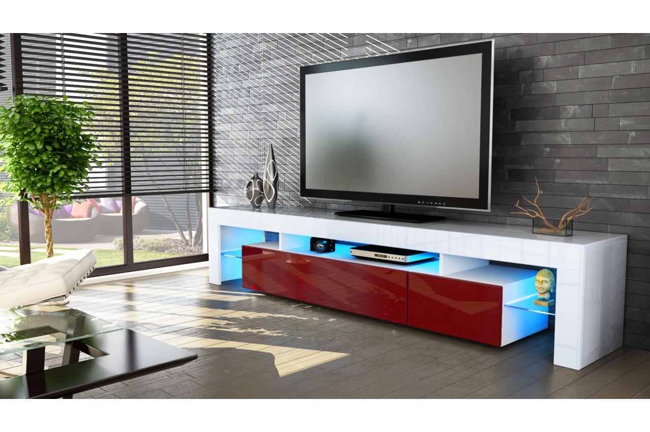 meuble tv design laqu blanc pour salon. Black Bedroom Furniture Sets. Home Design Ideas