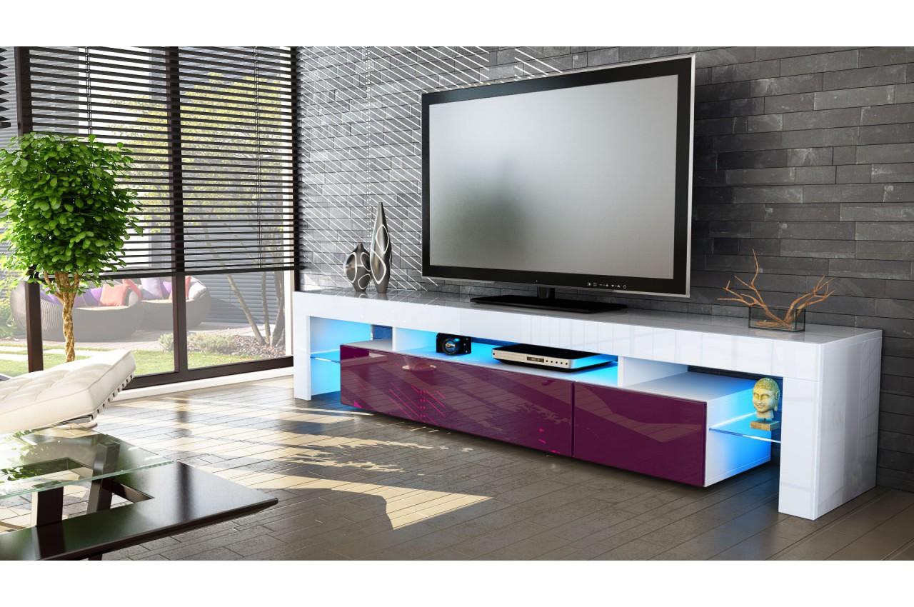 Meuble Tv Design Laqu Blanc Novomeuble # Meuble Tv Bordeaux