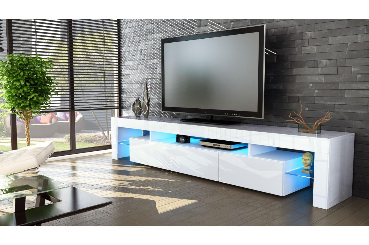 meuble tv design laqué blanc - novomeuble - Meuble De Tele Design