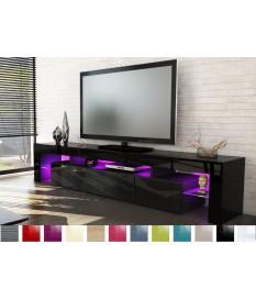 Meuble tv design laqué noir