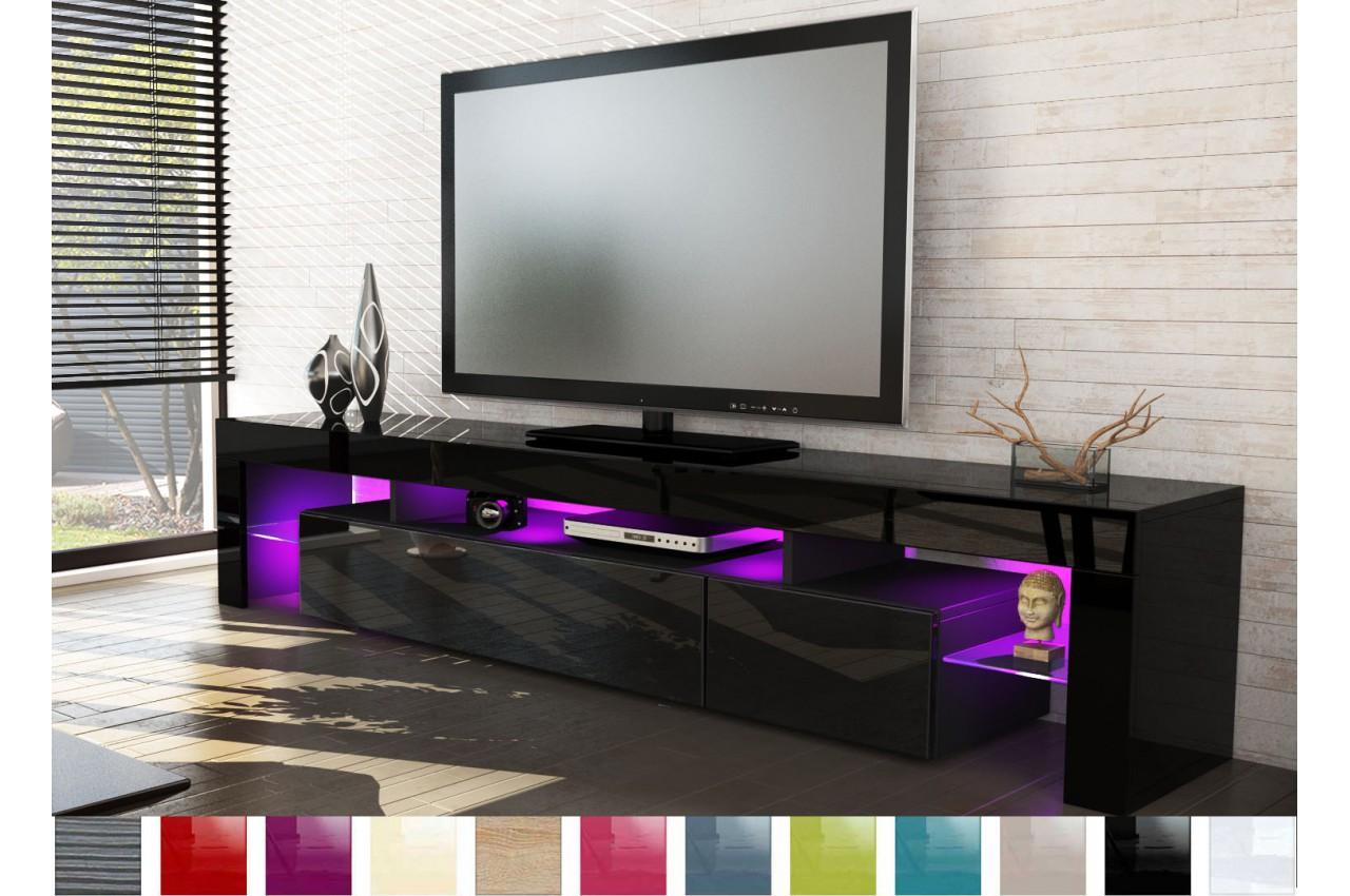 meuble tv design laqu noir pour salon. Black Bedroom Furniture Sets. Home Design Ideas