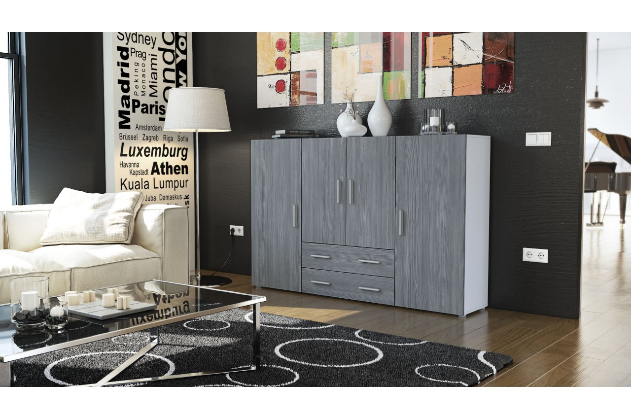 buffet haut de salon salle manger novomeuble. Black Bedroom Furniture Sets. Home Design Ideas