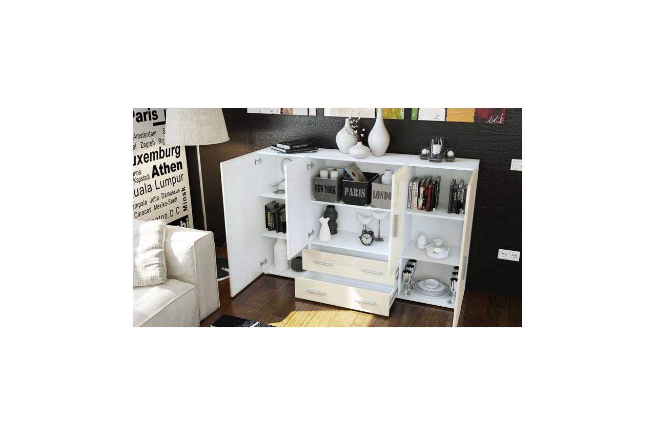 buffet haut de salon salle manger novomeuble. Black Bedroom Furniture Sets. Home Design Ideas