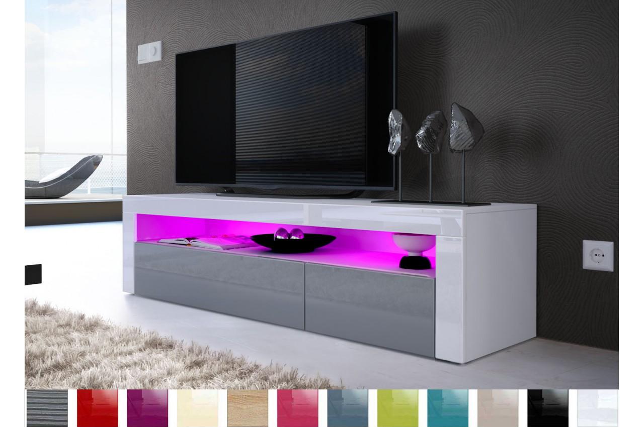 Meuble Tv Design Laqu 2 Portes 1 Niche Novomeuble # Meuble Tv Design Laque