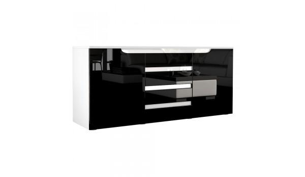 Buffet blanc 139 cm 2 portes 4 tiroirs