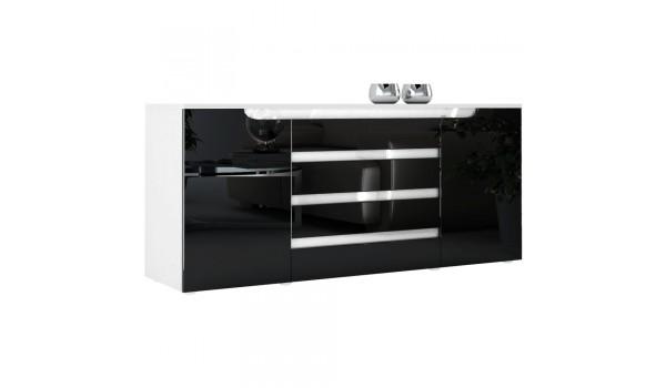 Buffet de Salon / Séjour 166 cm 2 portes 4 tiroirs