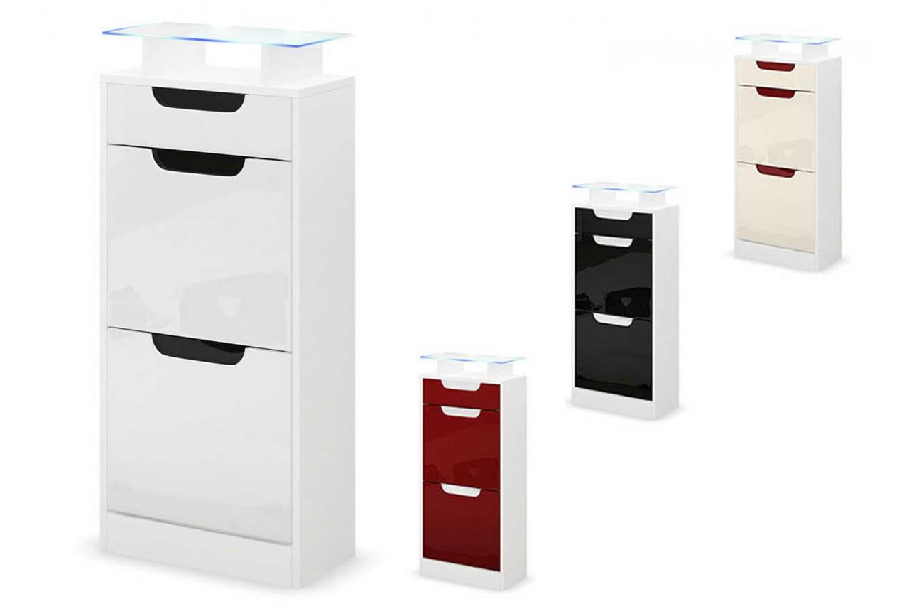 petit meuble chaussures blanc 2 portes 1 tiroir pour meuble chaussures. Black Bedroom Furniture Sets. Home Design Ideas