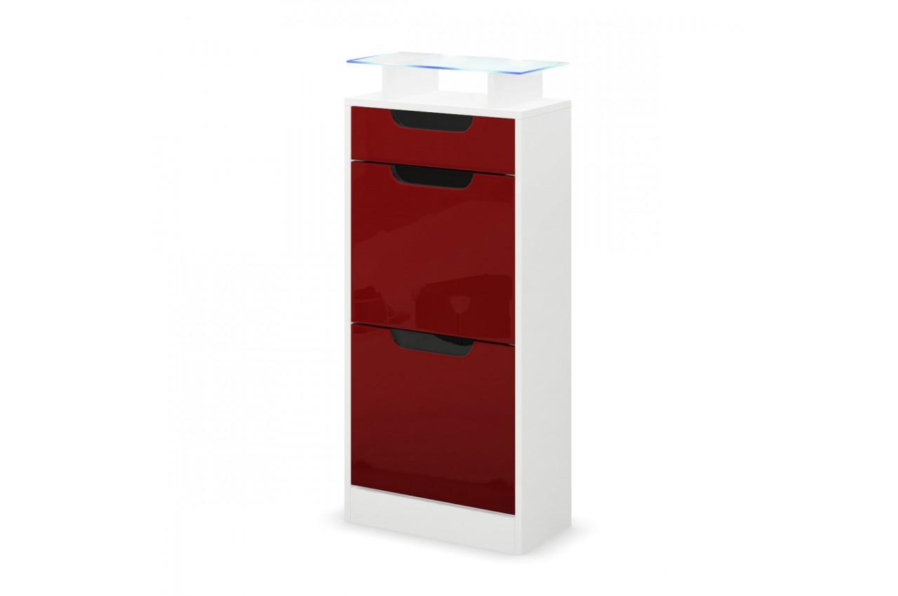 petit meuble chaussures blanc 2 portes 1 tiroir novomeuble. Black Bedroom Furniture Sets. Home Design Ideas