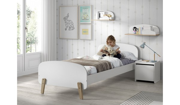 lit scandinave 1 place gar on ou fille pour chambre enfant ado. Black Bedroom Furniture Sets. Home Design Ideas