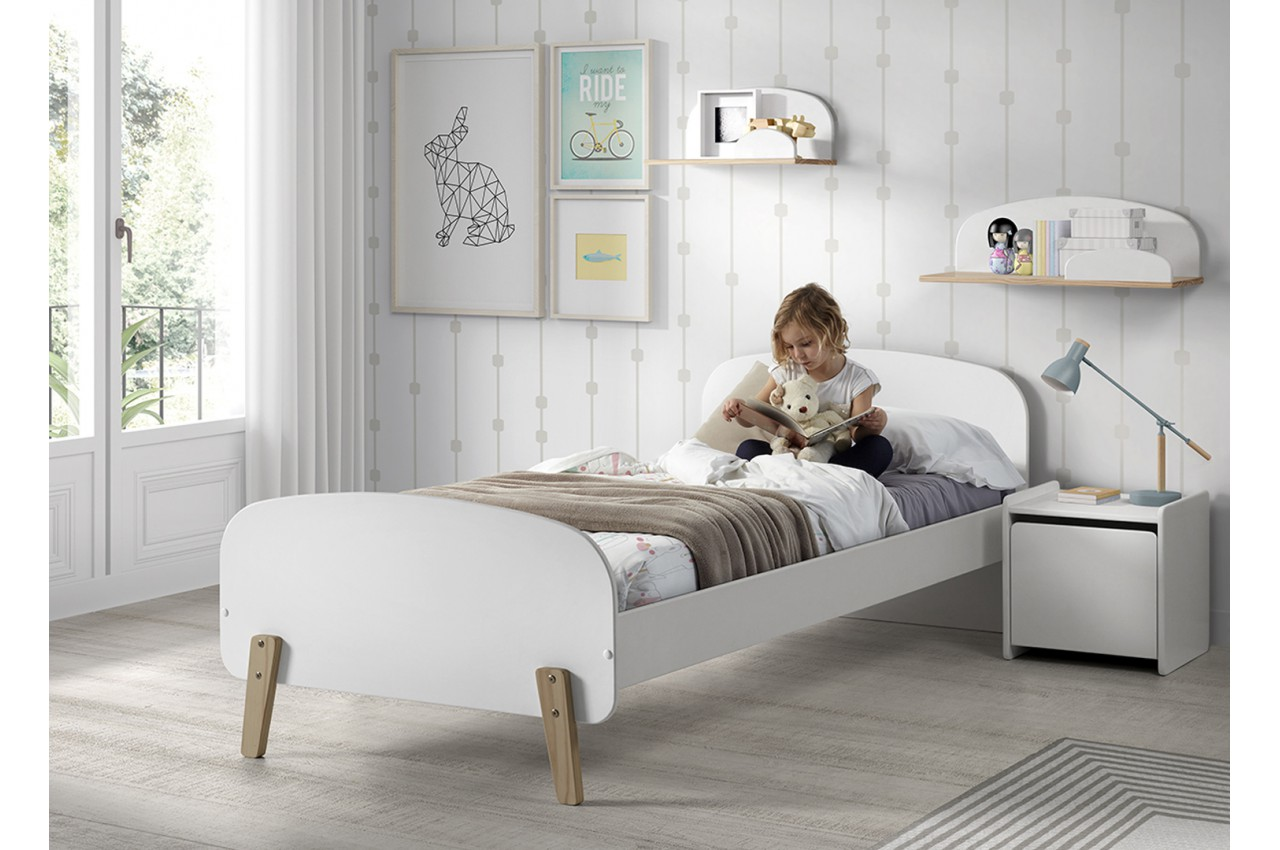 lit scandinave 1 place gar on ou fille novomeuble. Black Bedroom Furniture Sets. Home Design Ideas