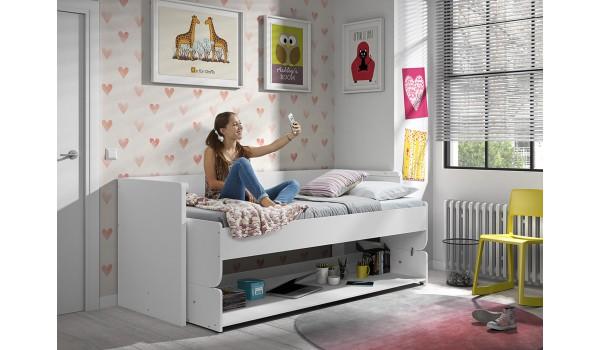 Lit bureau garçon ou fille pour chambre enfant & ado