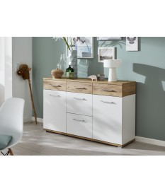 Buffet design contemporain 2 portes et 5 tiroirs