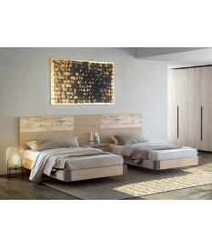 Deux Lits 90 x 190 moderne - Chevets & Tête de lit