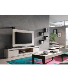 Panneau TV rotatif + Meuble TV