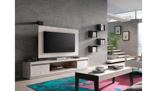 panneau tv rotatif meuble tv novomeuble. Black Bedroom Furniture Sets. Home Design Ideas