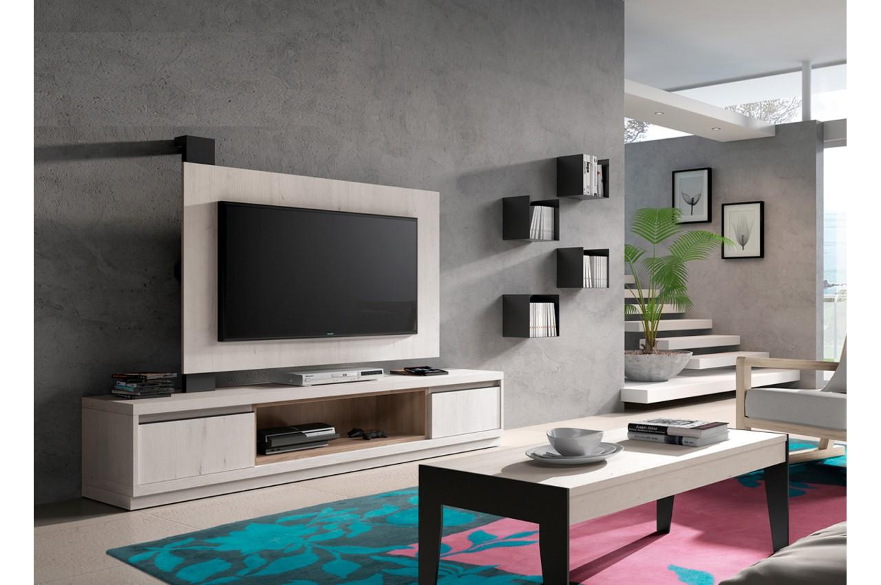 Panneau Tv Rotatif Meuble Tv Novomeuble # Composition Design Meuble Tele Planche Bois