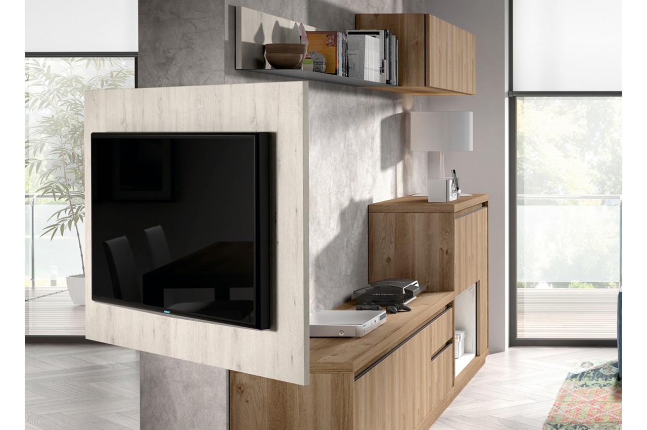 Panneau Tv Rotatif Meuble Tv Novomeuble # Meuble Tv Suspendu Orientable