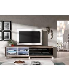 Panneau TV Pivotant avec Rangement + Meuble TV