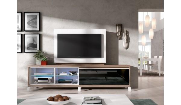 panneau tv pivotant avec rangement meuble tv novomeuble. Black Bedroom Furniture Sets. Home Design Ideas