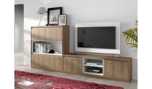 Meuble de Salon & Panneau TV Pivotant