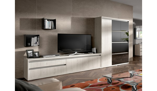 meuble de salon tv contemporain pour meuble tv mural. Black Bedroom Furniture Sets. Home Design Ideas