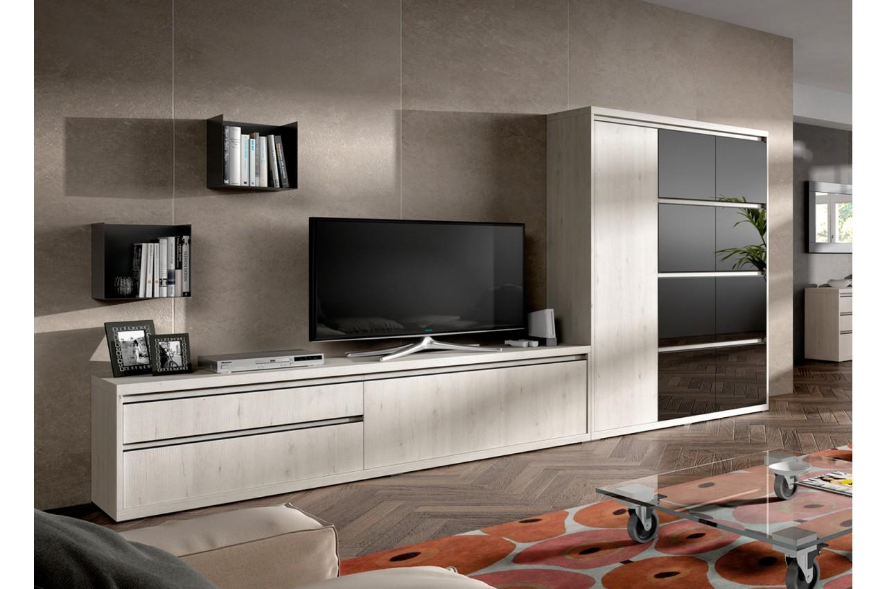 Meuble De Salon Tv Contemporain Novomeuble # Meuble Salon Tv