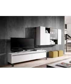 Meuble TV en Bois Blanc Contemporain