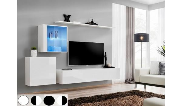 Meuble TV Mural Design Laqué