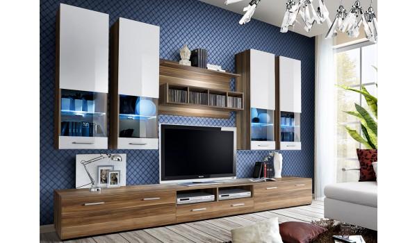 Ensemble TV Laqué & Noyer 3m
