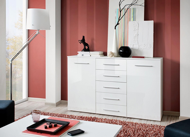 trendy buffet pas cher blanc novomeuble with buffet blanc laque pas cher. Black Bedroom Furniture Sets. Home Design Ideas