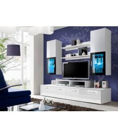 Meuble Télé Design Blanc Laqué