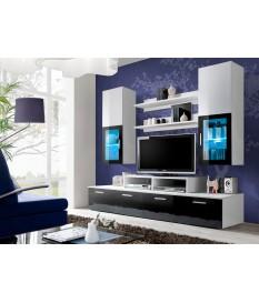 Ensemble TV Mural Noir & Blanc