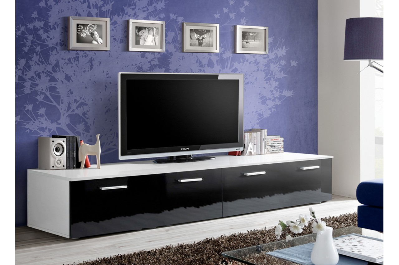 meuble tv bas 2m pas cher novomeuble. Black Bedroom Furniture Sets. Home Design Ideas