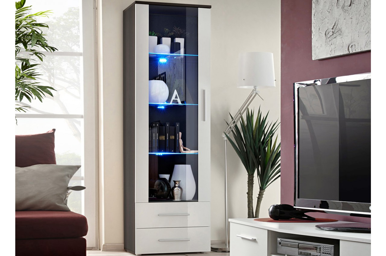 meuble vitrine avec clairage led novomeuble. Black Bedroom Furniture Sets. Home Design Ideas
