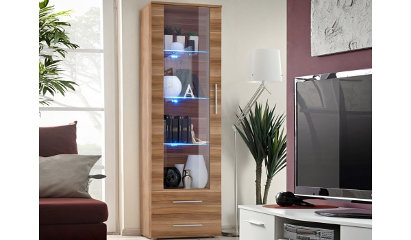 vitrine moderne avec clairage led novomeuble. Black Bedroom Furniture Sets. Home Design Ideas