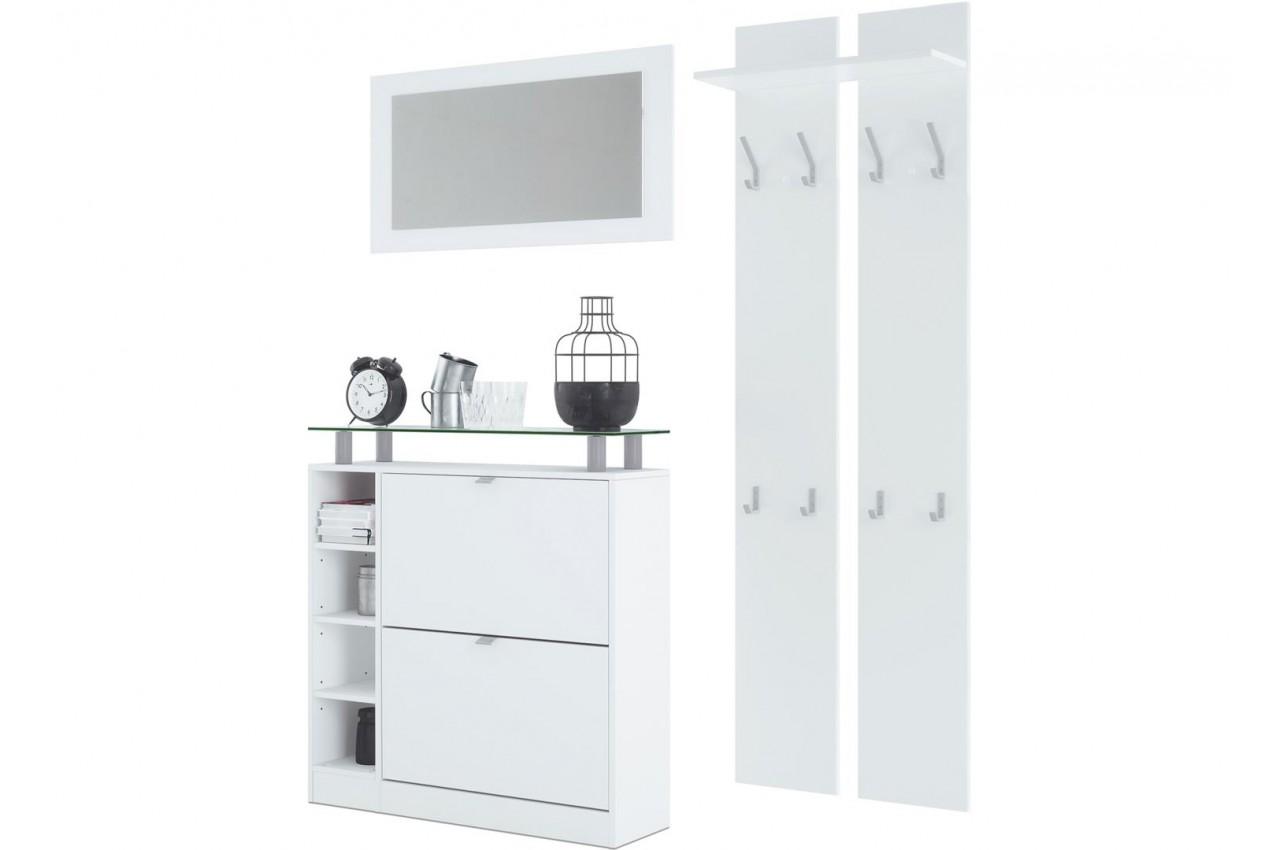 range chaussures vestiaire mural miroir pas cher pour ensemble chaussures. Black Bedroom Furniture Sets. Home Design Ideas