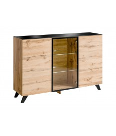 Grand Buffet Moderne en Bois Scandinave