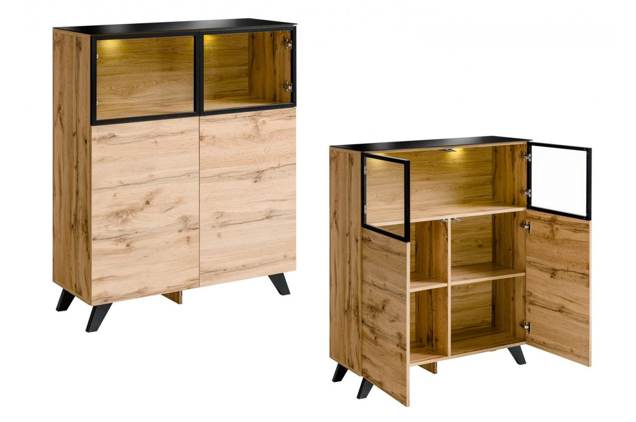 meuble de salon en bois moderne style scandinave novomeuble. Black Bedroom Furniture Sets. Home Design Ideas