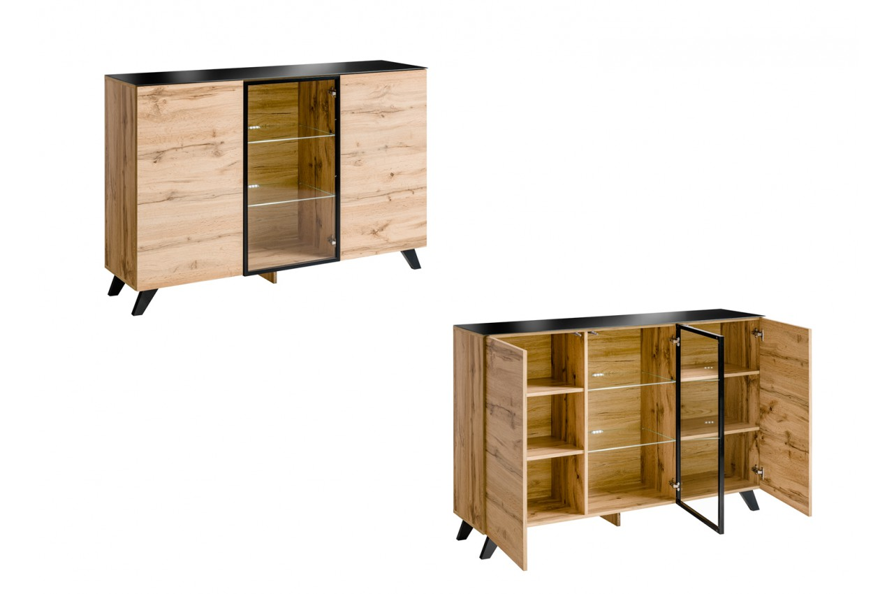 meuble de salon en bois moderne style scandinave novomeuble. Black Bedroom Furniture Sets. Home Design Ideas