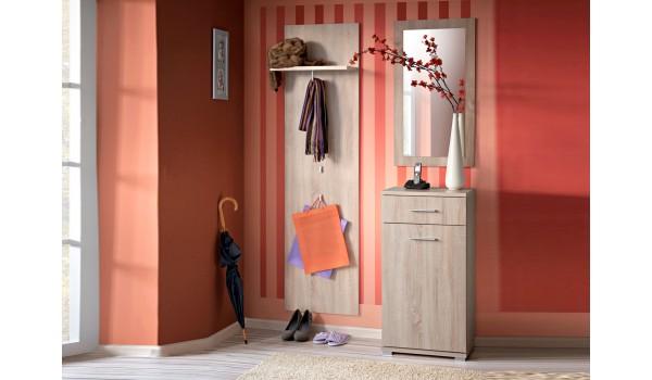 meuble d 39 entr e pas cher rangement vestiaire miroir novomeuble. Black Bedroom Furniture Sets. Home Design Ideas