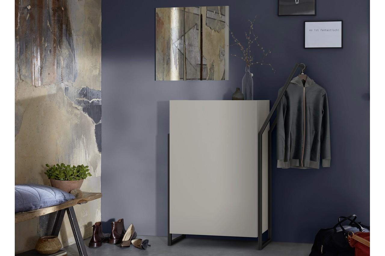 meuble chaussures d 39 entr e original coloris gris pierre pour meuble chaussures. Black Bedroom Furniture Sets. Home Design Ideas