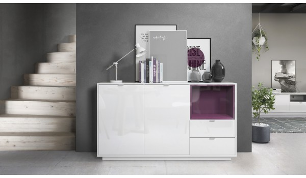 Buffet Design Blanc Brillant